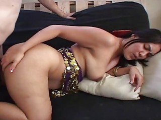 Big ass Indian babe gets her big booty pounded hard