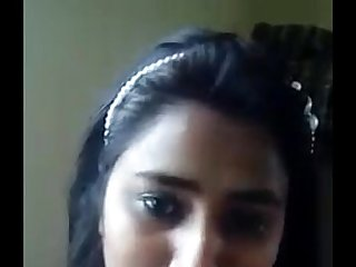 Indian collage girl showing