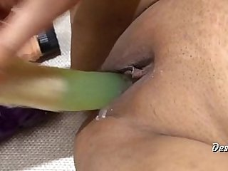Hot Indian Wife Masturbate With 3 Dildos