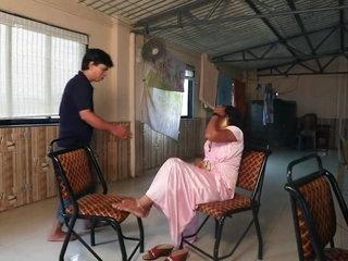 Matured Indian Bhabhi rad fucking, sucking with her friend