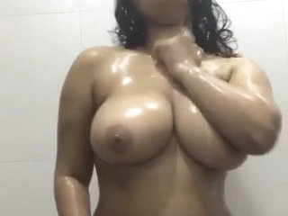 Desi girl dances and fondles big boobs