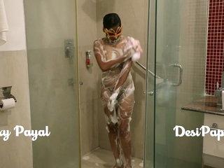 desi south indian girl young bhabhi Payal in bathroom